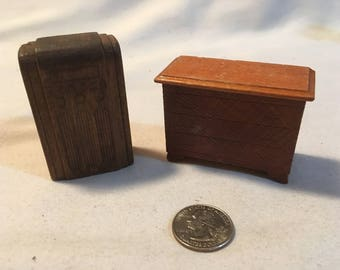 Dollhouse Wood Radio and Dresser