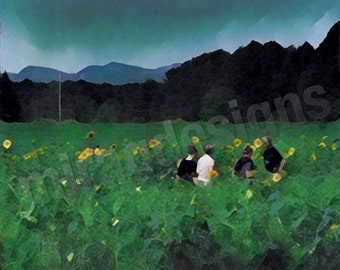 Picking Sunflowers in Shelburne, VT Note Card