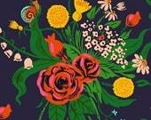 1/2 yard  SLEEPING PORCH (Cotton Lawn) by Heather Ross for Windham Fabrics Wildflower Indigo