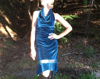 Veluna tango dress - cerulean