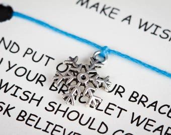 Snowflake Wish Charm Bracelet