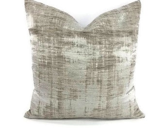 Casamance Marbre in the color Argent Pillow Cover