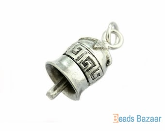 Karen Hill Tribe silver Tribal Amulet Bell Charm, 19 mm : Actually bell can make noise