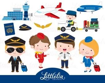 Pilot clipart - airport clipart - 16101