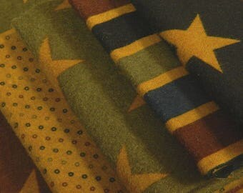 Andover Fabrics - Jo Morton - Star Gazing Flannel - Five Piece Fat Quarter Bundle