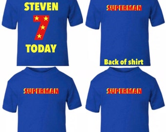 Birthday 7 years old or any age T-shirt or design your own
