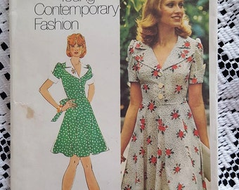 1973 Vintage Dress In Two Lengths Pattern Simplicity 5562 Size 14 NEW/UNCUT
