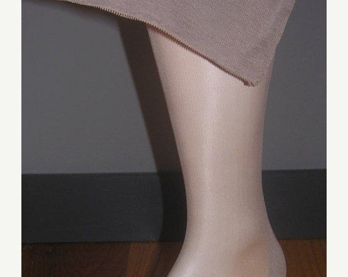 """30% OFF 3 pair Vintage seamed nylon stockings size 10 1/2 X 31 1/2"""" Taupetone WWII era"""