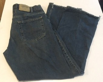 Vintage Men's Levis Jeans Signature Levi Strauss Men's Low Boot Jeans 36 x 32 Dark Wash Made in Pakistan Natural Wear & Fading No Rips/Tears
