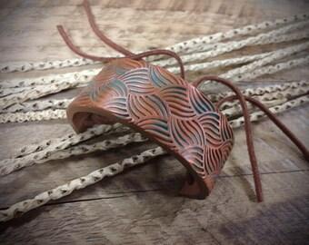 Polymer clay cuff bracelet, Copper & Patina polymer clay cuff bangle, polymer clay bangle, polymer clay jewelry, cuff bangle, cuff bracelet
