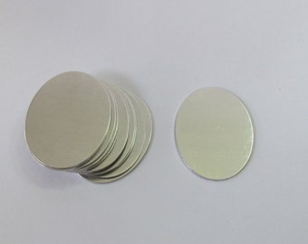 Oval Blanks - 20 gauge - 3/4 x 1 1/8 Aluminum - Tumbled blanks - PREMIUM blanks - Necklace blanks - Stamping Supplies