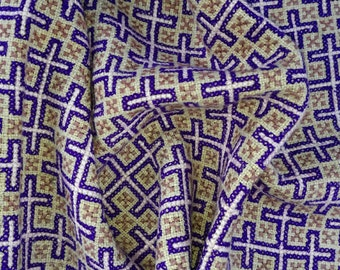 Hmong embroidery on hemp fabric embroidered hill tribe hemp textile (H156)