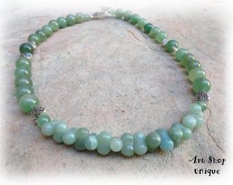 Jade gemstone necklace