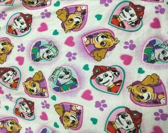 Pretty dog pattern soft Cotton lycra Fabric 48*165 cm 1/2 yard