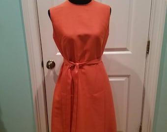 Vintage 60's Muted Orange Dress