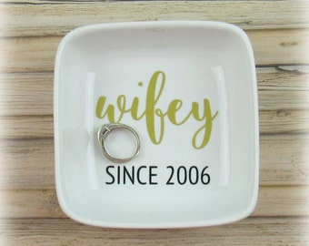 Wifey Ring Dish ~ Jewelry Holder ~ Ring Dish ~ Wedding Gift