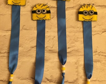 Minions inspired bookmark