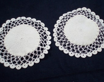 Lavender Sachet  Lace Doily Hand Crocheted