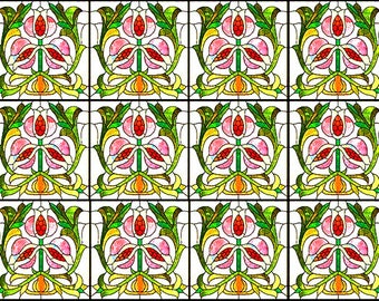 for dollhouse CHOOSE FROM 5 beautiful! dolls house square stained glass effect lumiplex plastic panels -use in other crafts too