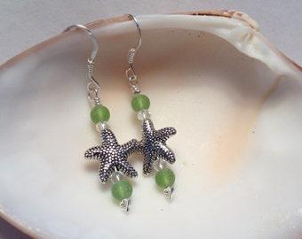 Silver Sea Star Earrings