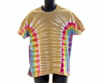 Tie Dye T-Shirt, Limited Time OOAK Color, Trippy Mens Shirt, Hippie Womens Clothes, Plus Size Shirt