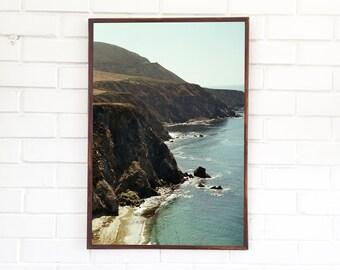 Big Sur Art Print / Northern California Photography / Bixby Bridge Landscape Photo Mountain Range California Coast Cliffs Ocean Portrait