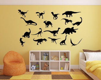 Dino Wall Decal Etsy - Custom vinyl wall decals dinosaur