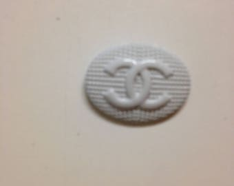 White small metal button Chanel