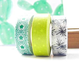 Washi tape set, ricepaper deco tape, washi tape set mix and match
