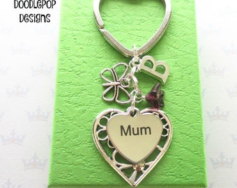 Mum Birthday gift - Mum keyring - Mother's Day gift - Butterfly keyring - Gift for mum - Mum keychain - Butterfly keychain - UK seller - UK