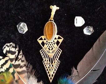 Geometría sagrada >>> colgante hecha a mano - pieza única