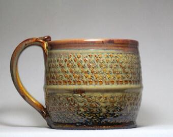 32oz ceramic mug, large  handthrown pottery mug