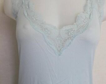 Crochet Nightgown Hanro Cotton Nightgown Blue Nightgown