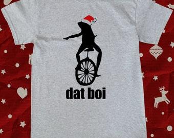 Christmas Dat Boi Waddup Meme T-Shirt