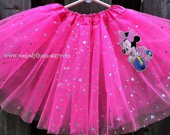 Minnie mouse tutu hot pink sparkle tutu Hot pink Minnie mouse dress Minnie mouse outfit party tutu birthday outfit baby tutu toddler tutu