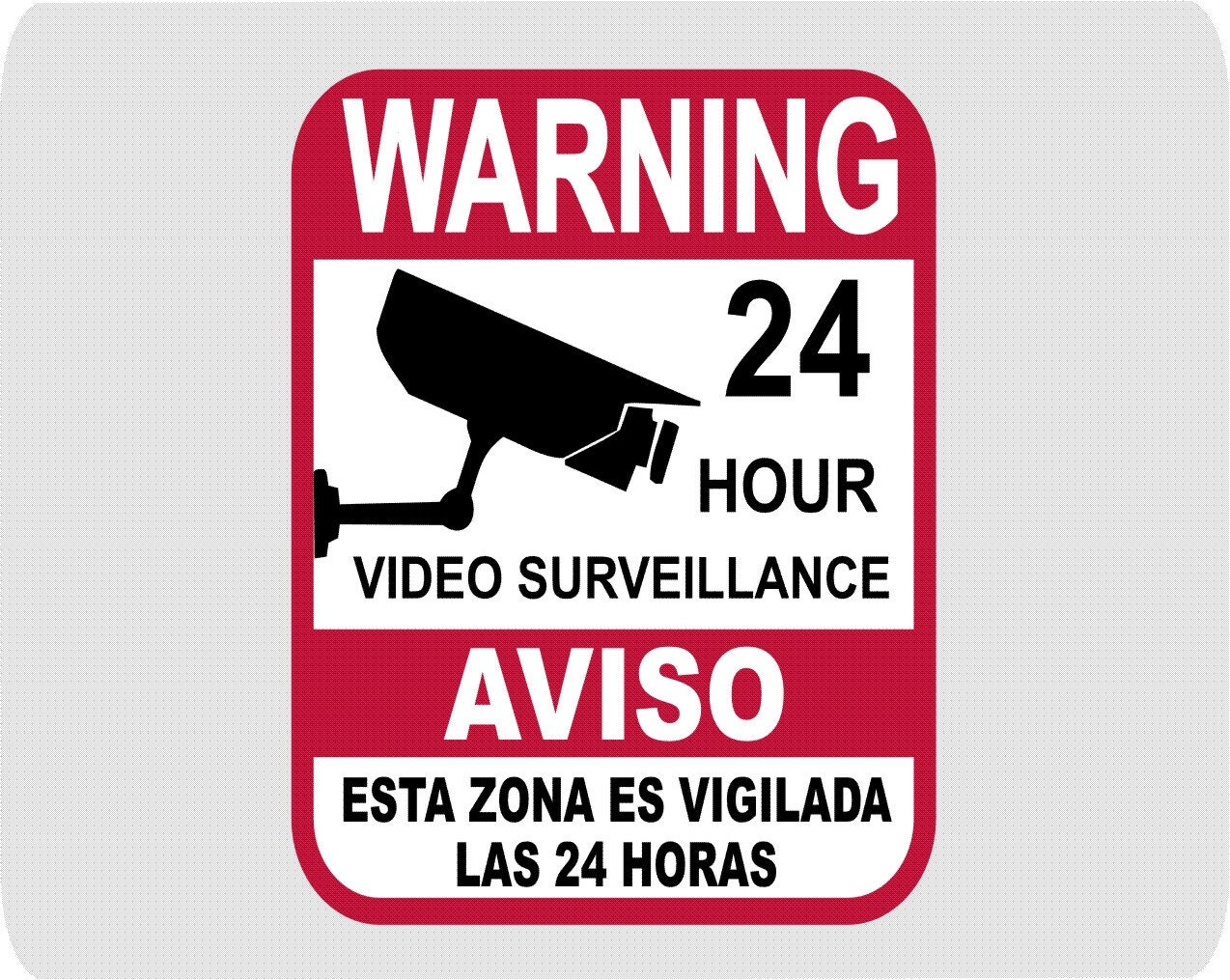 Metal Warning Security Cameras In Use Business Home