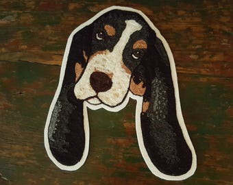 Limited Edition collab with Agatha Basset  CHAIN STITCH Basset Hound PATCH