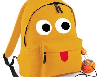 Personalised Monster Backpack Kids Children Teenagers School Uni Student rucksack