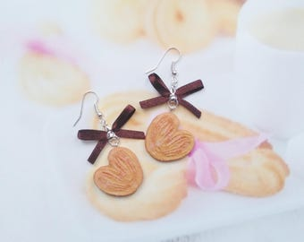 earrings  palm biscuit polymer clay