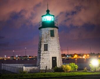 Goat Island Light, Newport, RI, Rhode Island, Lighthouse, Goat Island, New England