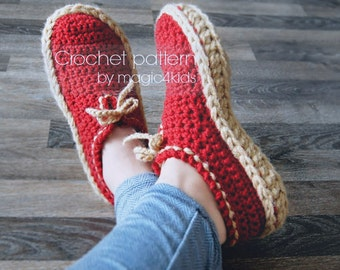Crochet pattern- unisex moccasins, slippers,loafers,short boots,home shoes,for women,girls,boys,men,adults,sneakers,casual look,teens,soles