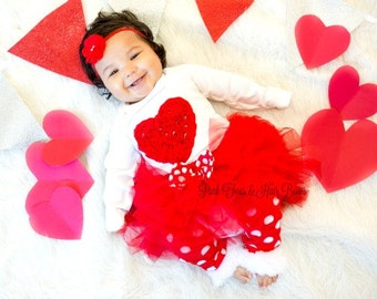 Valentines Day outfit- Valentines day tutu set-Valentines day set-valentines day- Valentines tutu dress-
