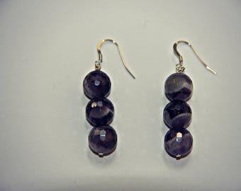 Amethyst/Sterling Silver Earrings