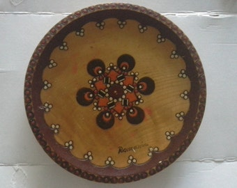 Romanian wooden plate hand made