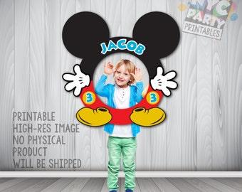 Mickey Photo Booth Frame, Mickey Mouse, Circular Mickey Mouse Photo Booth Frame, Photo Booth Frame, Mickey Birthday
