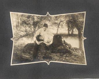Vintage Photo ~  Woodland Romance