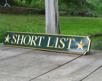 Custom Carved Quarterboard sign with star image - Add your name