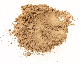 HONEY BEIGE Titanium Free Mineral Foundation - Loose Powder Foundation - Gluten Free Vegan Makeup Samples and Full Size