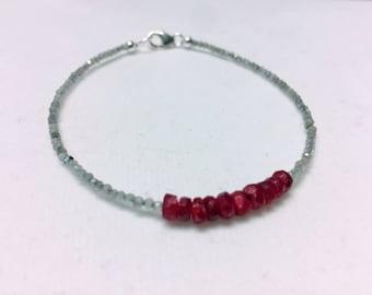 Ruby Labradorite Collins Bracelet
