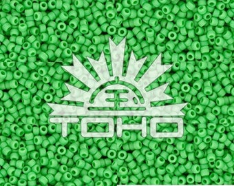 Opaque Mint Green #47 Toho Size 11 Seed Beads 11/0 +/- 20g Tube #z311